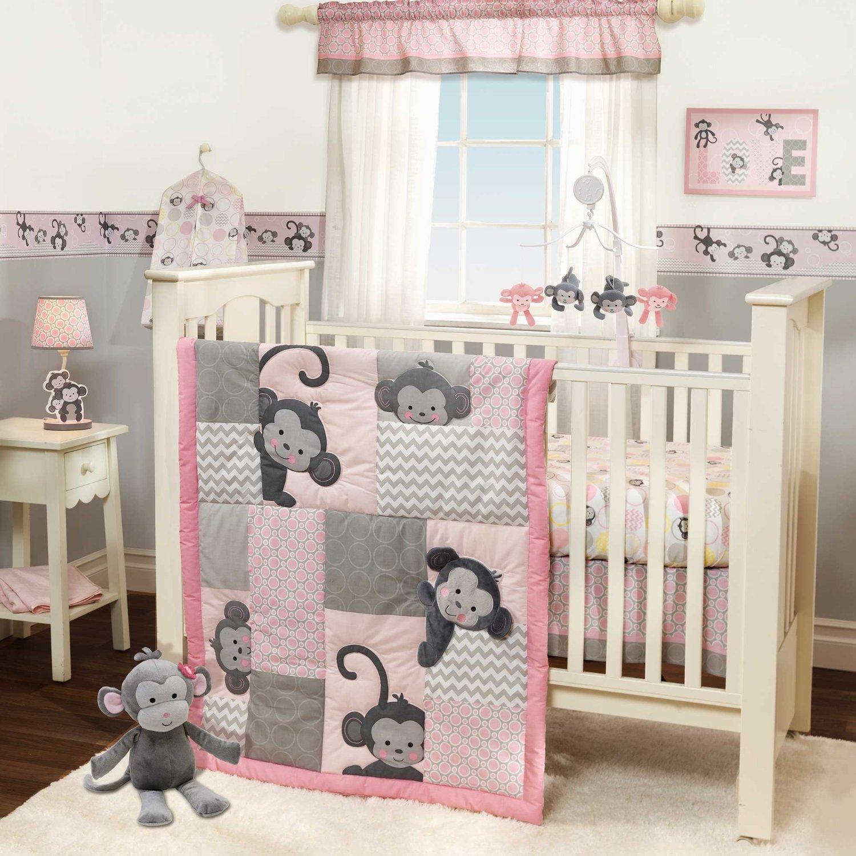 Baby Bedding Monkey Girl